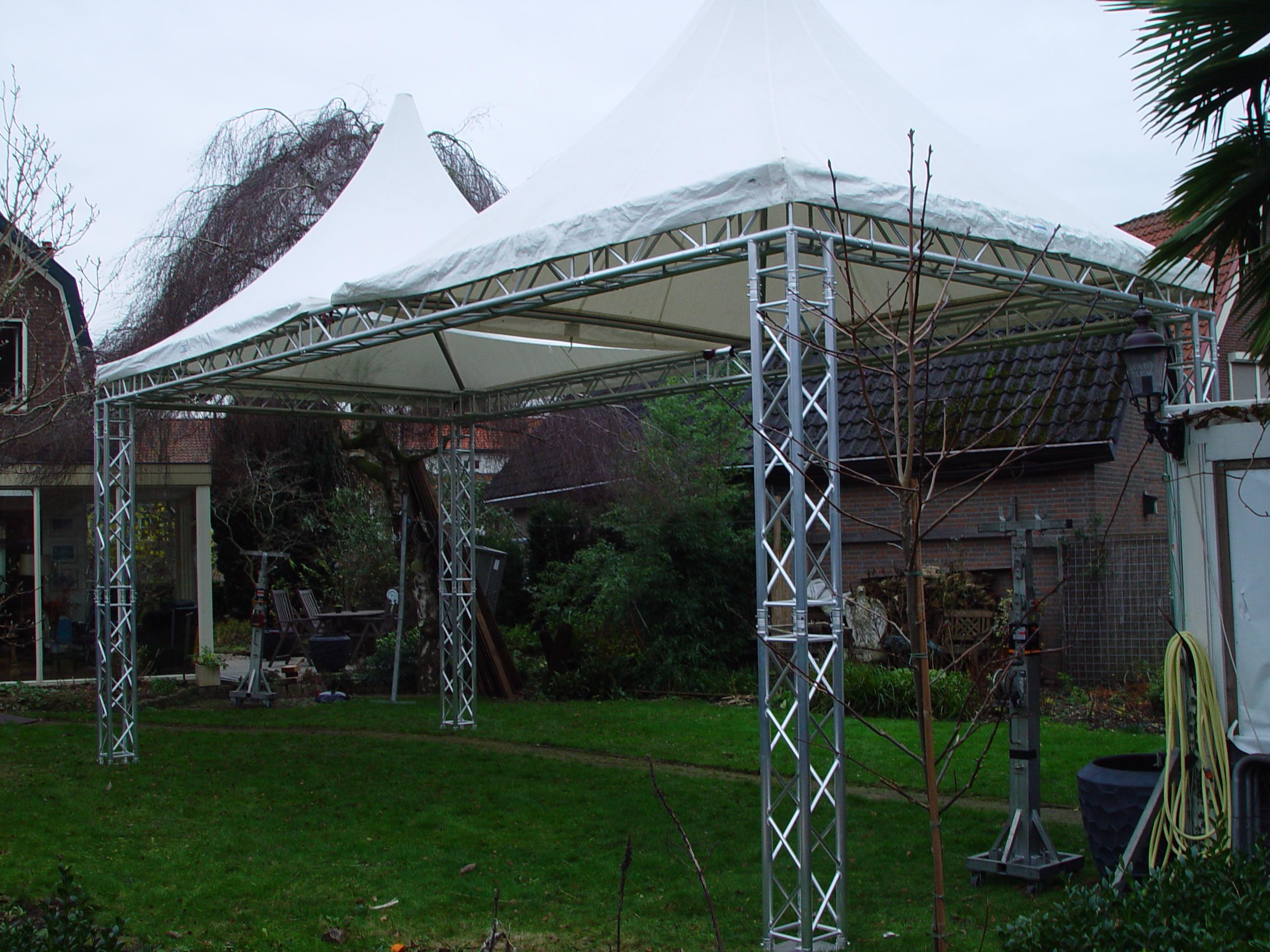 Truss Tent 4x4 en 5x5 meter & Truss Tent u0026 Podia huren - Thijssen Tentenverhuur